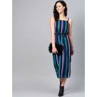 SIRIKIT Women Blue Striped A-Line Dress